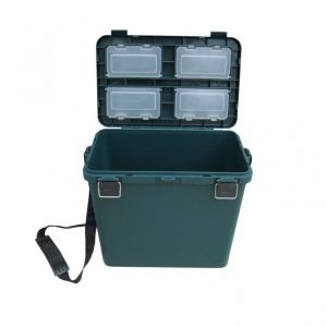 Ice Fishing Seatbox Tonar Helios - 19l, 1 section dark green