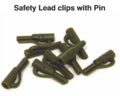 SAFELY LEAD CLIPS WITH PIN - BROWN