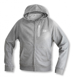 Daiwa D-VEC Hoodie with Zipper - grey