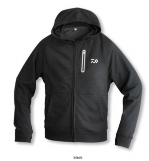 Daiwa D-VEC Hoodie with Zipper - black