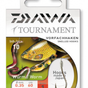 Вързани Куки Daiwa Tournament Worm Hook