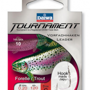 Вързани куки Daiwa TOURNAMENT Trout Hook - 120см повод